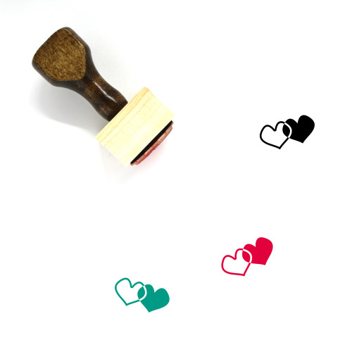 Hearts Wooden Rubber Stamp No. 279