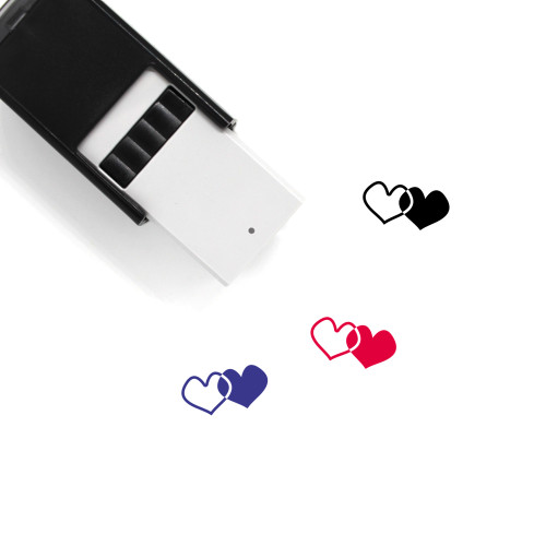 Hearts Self-Inking Rubber Stamp No. 279