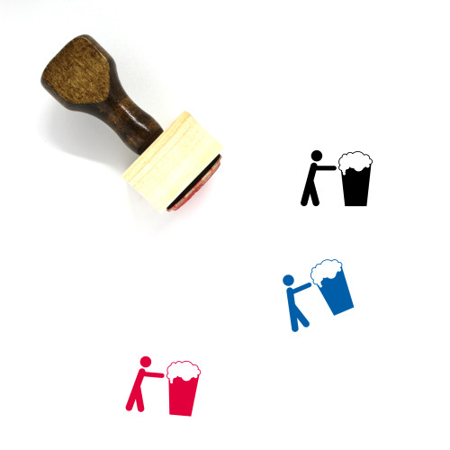 Alcoholic Wooden Rubber Stamp No. 2