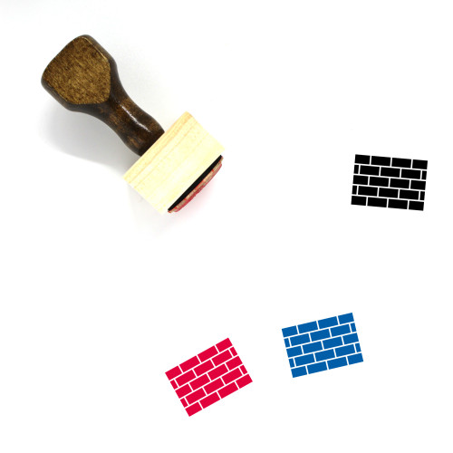 Brick Wall Wooden Rubber Stamp No. 64