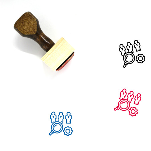 Human Resource Wooden Rubber Stamp No. 65