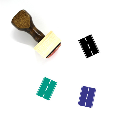 Road Wooden Rubber Stamp No. 75