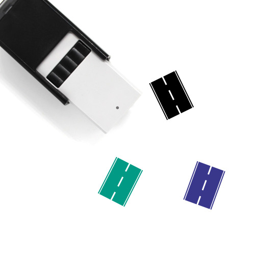 Road Self-Inking Rubber Stamp No. 75
