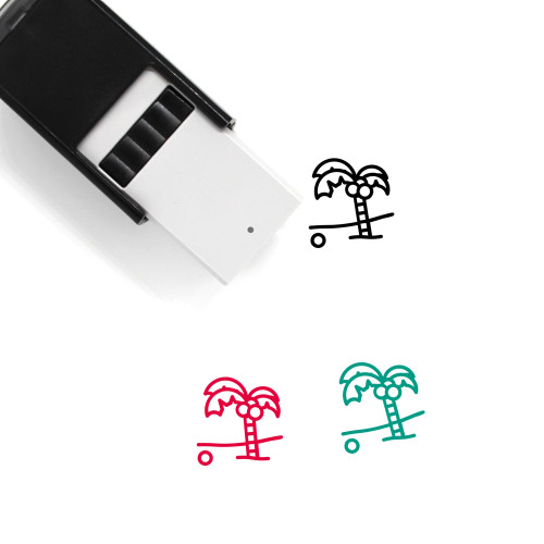 Coconut Tree Self-Inking Rubber Stamp No. 10