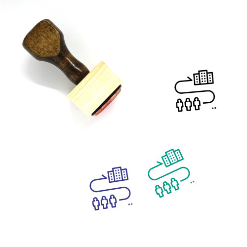 Evacuation Wooden Rubber Stamp No. 9