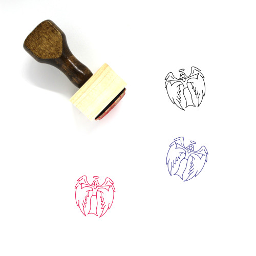Angel Wooden Rubber Stamp No. 116