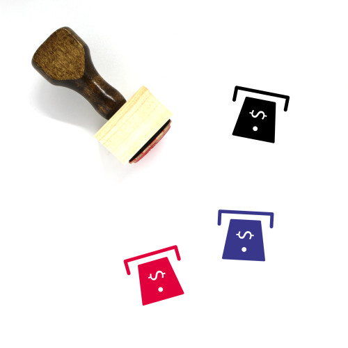 ATM Wooden Rubber Stamp No. 47