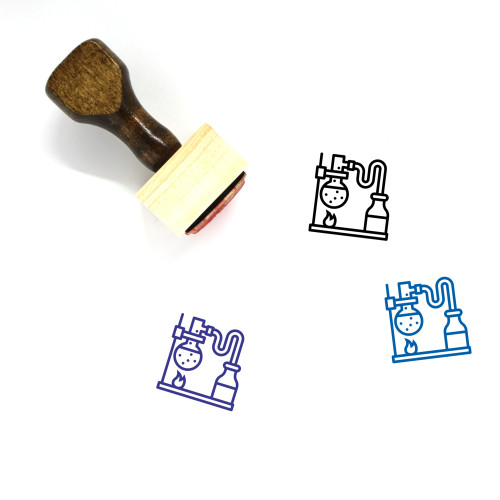 Chemistry Wooden Rubber Stamp No. 18