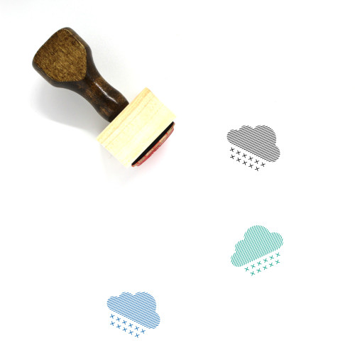 Heavy Snowfall Wooden Rubber Stamp No. 1