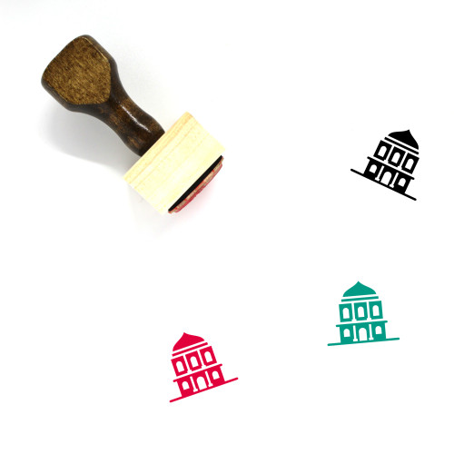 National Museum Building Wooden Rubber Stamp No. 1