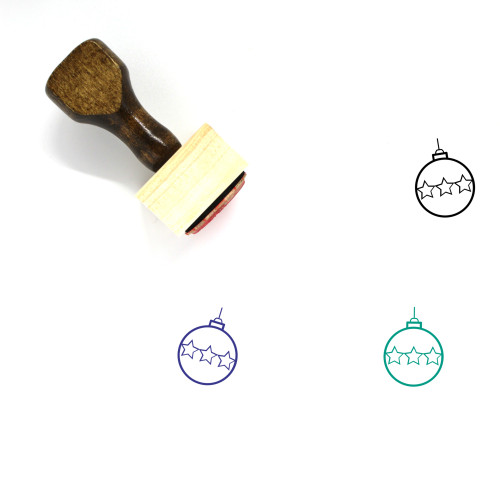 Christmas Ornament Wooden Rubber Stamp No. 102