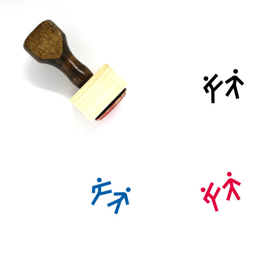 Fight Wooden Rubber Stamp No. 69