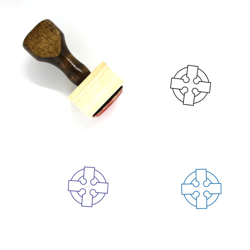 Celtic Cross Wooden Rubber Stamp No. 10