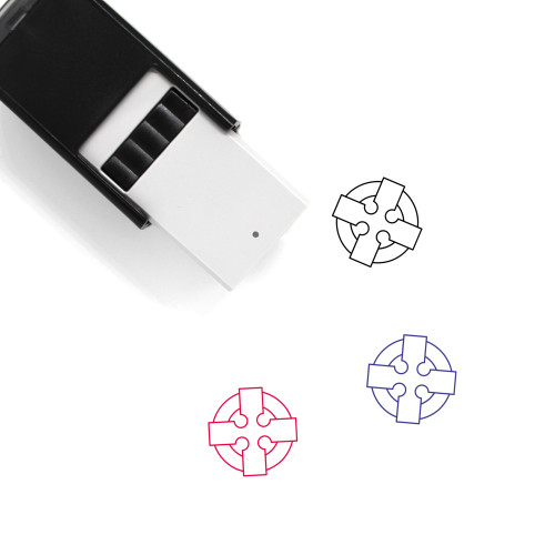 Celtic Cross Self-Inking Rubber Stamp No. 10