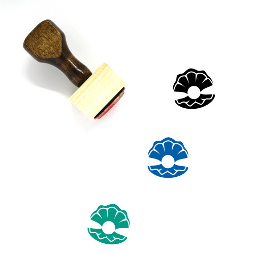 Pearl Wooden Rubber Stamp No. 45