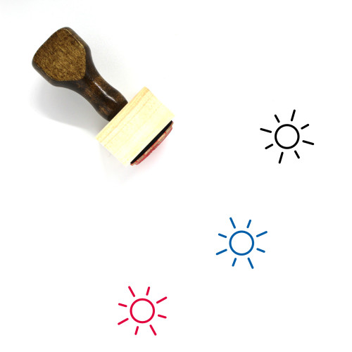 Sun Light Wooden Rubber Stamp No. 5