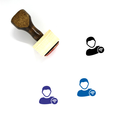 Wifi User Wooden Rubber Stamp No. 8