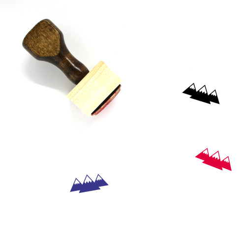 Mountain Range Wooden Rubber Stamp No. 13