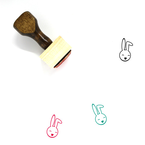 Bunny Wooden Rubber Stamp No. 113