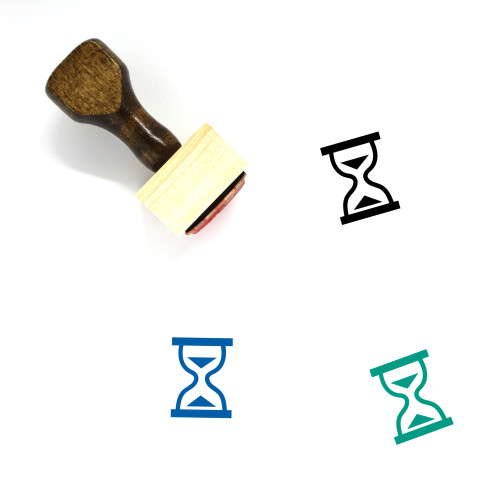 Hourglass Wooden Rubber Stamp No. 165
