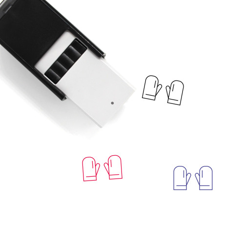 Gloves Self-Inking Rubber Stamp No. 62