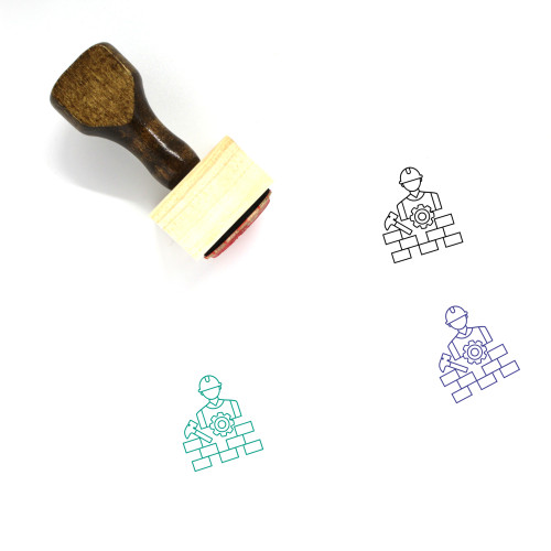 Building Construction Wooden Rubber Stamp No. 9
