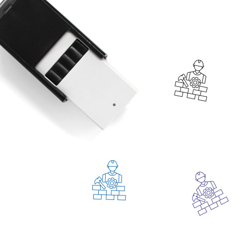 Building Construction Self-Inking Rubber Stamp No. 9
