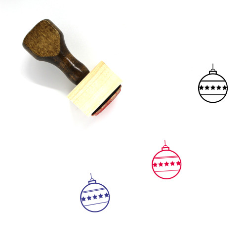 Christmas Ornament Wooden Rubber Stamp No. 103