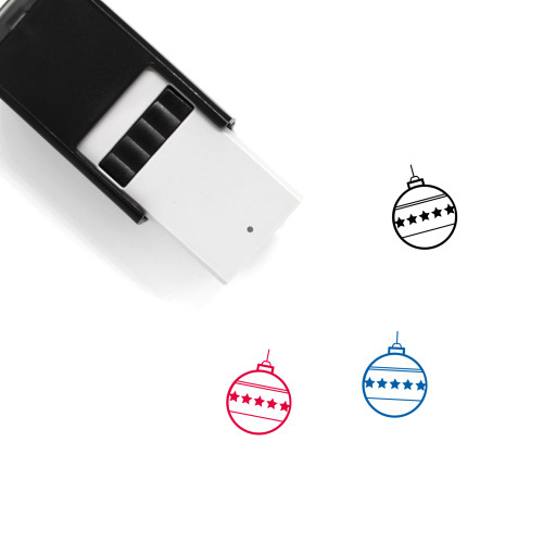 Christmas Ornament Self-Inking Rubber Stamp No. 103