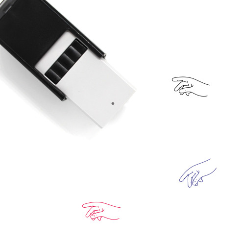 Grabbing Something With Right Hand Self-Inking Rubber Stamp No. 1
