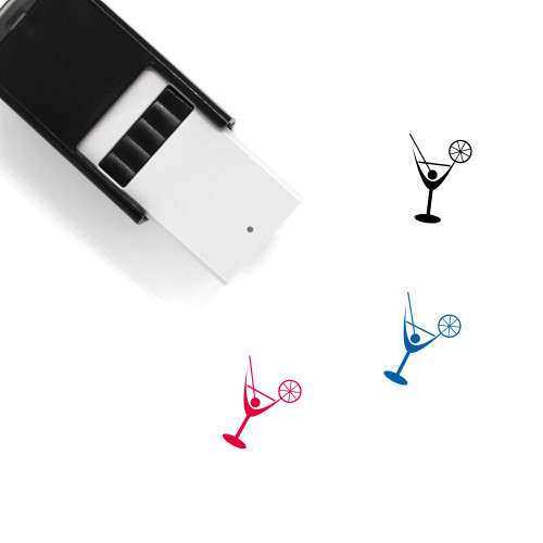 Glass Self-Inking Rubber Stamp No. 173