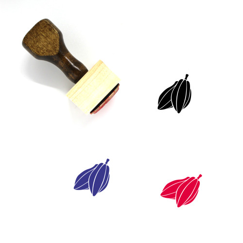 Cocoa Beans Wooden Rubber Stamp No. 2