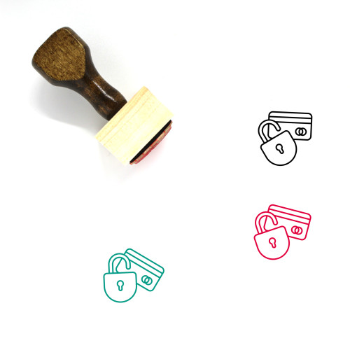 Credit Card Security Wooden Rubber Stamp No. 11