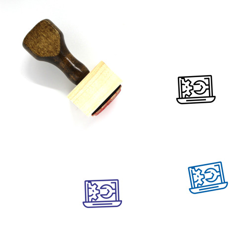 Admin Wooden Rubber Stamp No. 74
