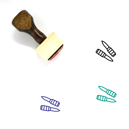 Bullets Wooden Rubber Stamp No. 45