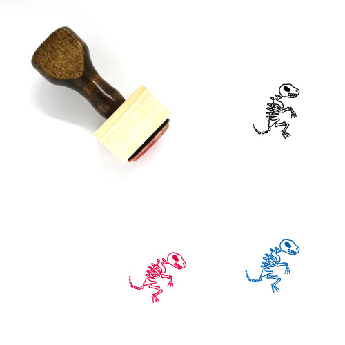 Dinosaur Fossil Wooden Rubber Stamp No. 3