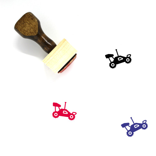 Remote Control Car Wooden Rubber Stamp No. 1