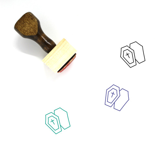 Coffin Wooden Rubber Stamp No. 60