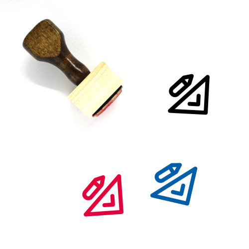 Degree Square Wooden Rubber Stamp No. 8