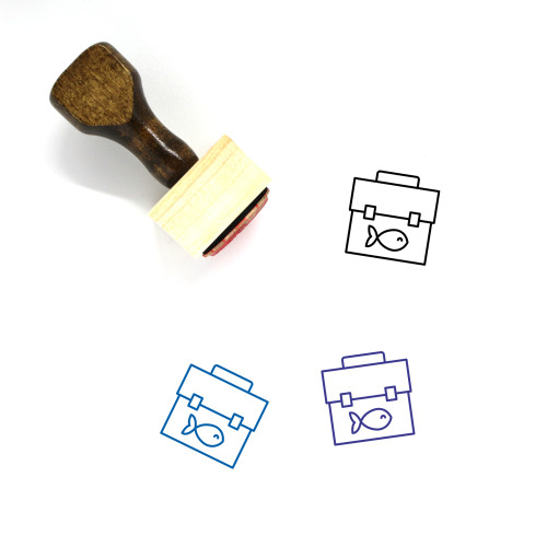 Tackle Box Wooden Rubber Stamp No. 14