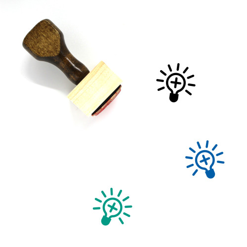Accepted Idea Wooden Rubber Stamp No. 2