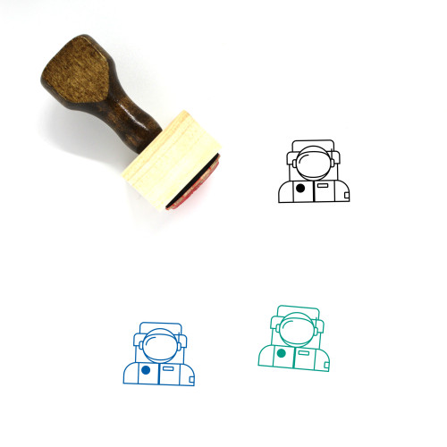 Astronaut Wooden Rubber Stamp No. 63