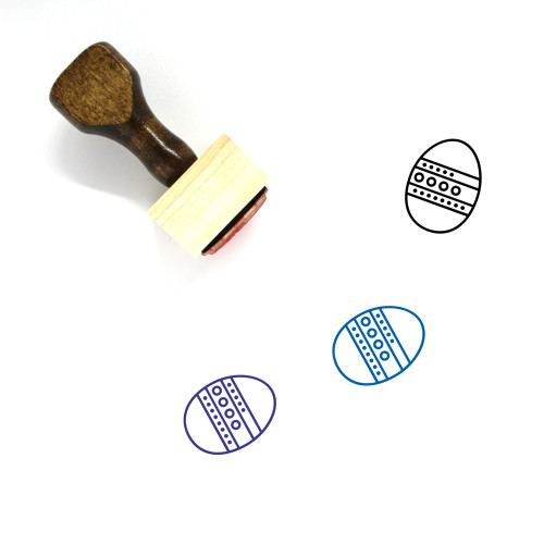 Easter Eggs Wooden Rubber Stamp No. 141