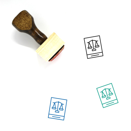 Law Wooden Rubber Stamp No. 276
