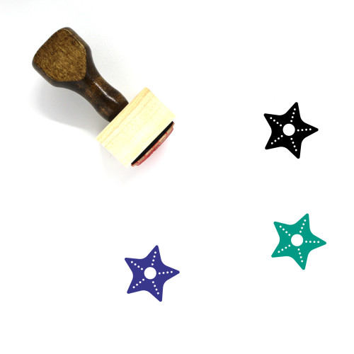 Starfish Wooden Rubber Stamp No. 89