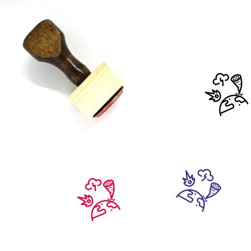Damage Wooden Rubber Stamp No. 1
