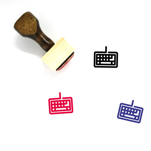 Keyboard Wooden Rubber Stamp No. 75