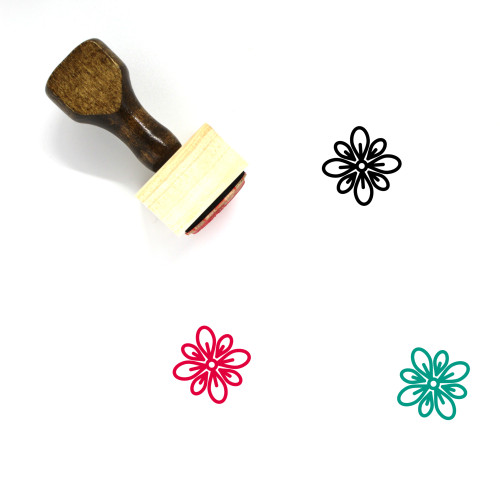 Celebrate Wooden Rubber Stamp No. 45