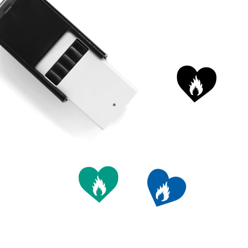 Burning Love Self-Inking Rubber Stamp No. 1