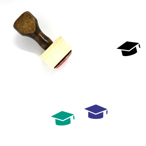 Mortar Board Wooden Rubber Stamp No. 43
